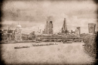 London Skyline East Silverplate