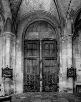 Poissy - Doors from within, Notre-Dame de Poissy