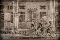 George Town, Penang - Rickshaw for Four, Silverplate